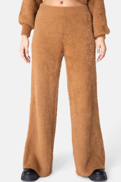 Cider Fuzzy Flared Pants