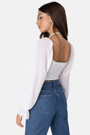 Cinder Ruched crop top