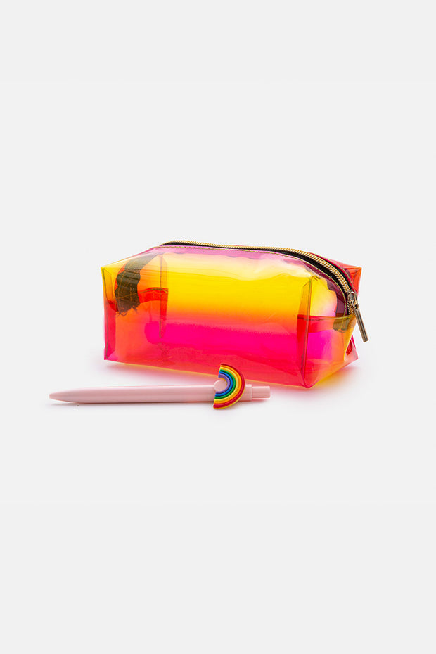 Holographic Clear Pencil Case