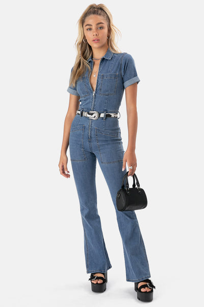 Skylar Denim Jumpsuit