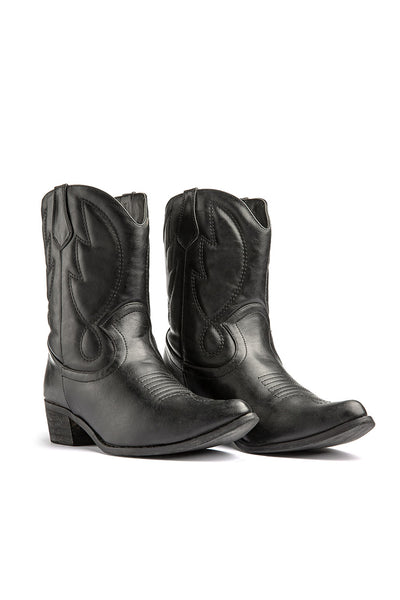 Cowboy Faux Leather Boots
