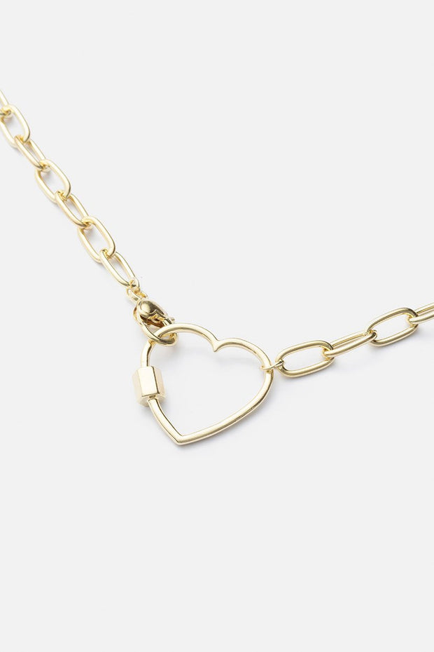 In-Love Chain Link Pendant Necklace