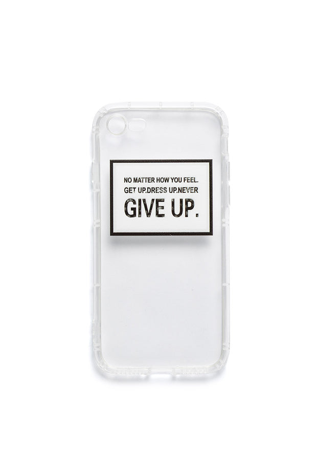 Give Up Transparent IPhone Case