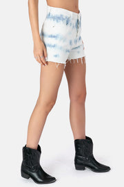 Tye Die Denim Shorts