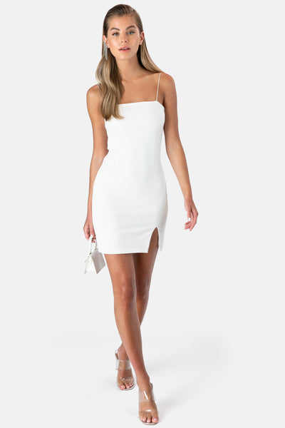 Leonie Mini Dress with Front Slit
