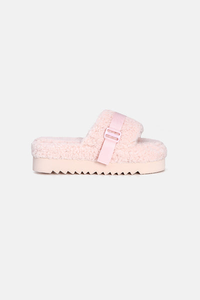Kitty Faux Shearling Sliders