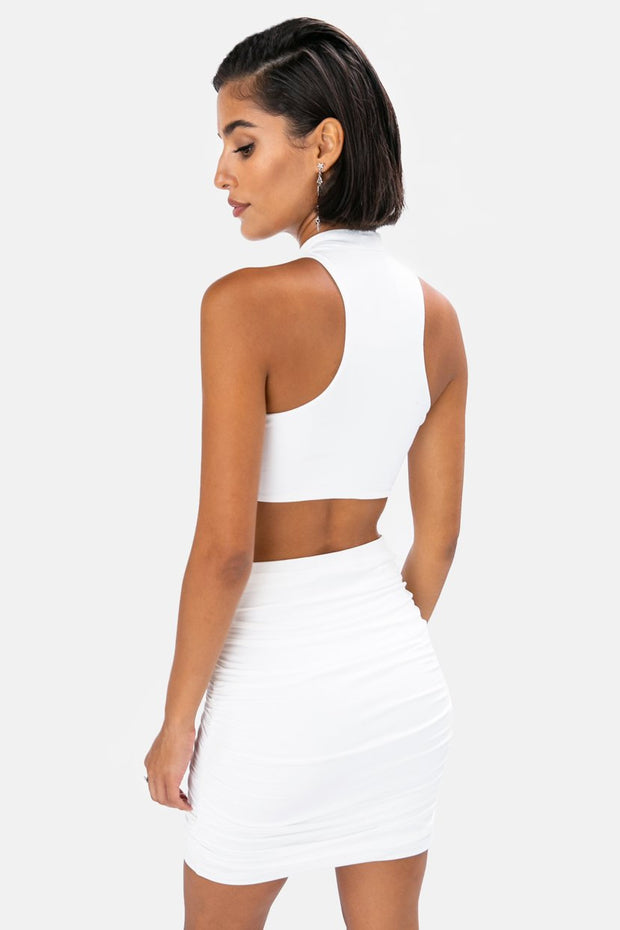 Stone Cut-Out Crop Top