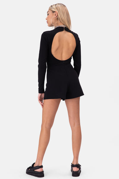 Waltz Open-Back Romper