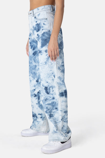 Washy Tie-Dye Jeans | WIDE