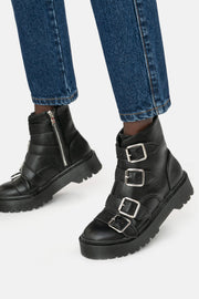 Buckler faux Leather Boots