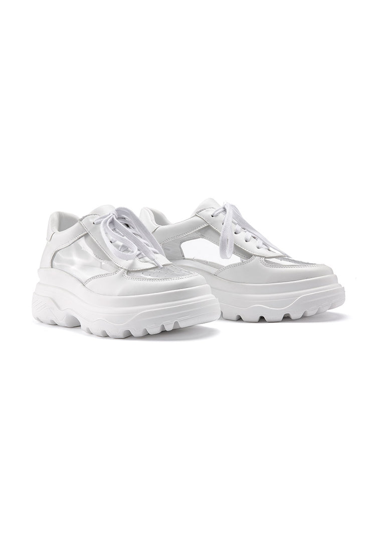 Transparent Platform Sneakers