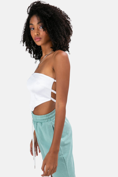 Harper Open-Back Strapless Top