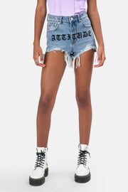 ATTITUDE Denim Shorts