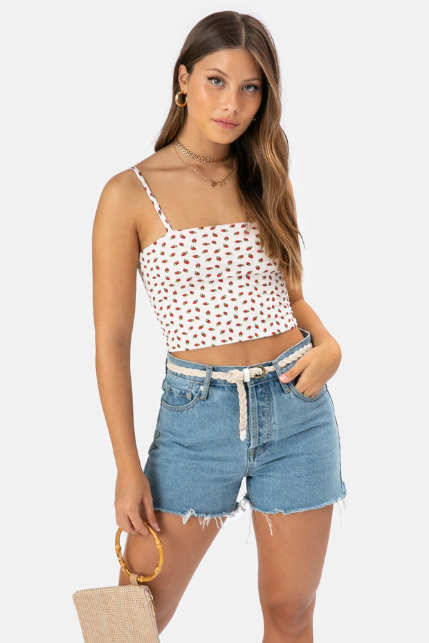 Strawberry Crop Top