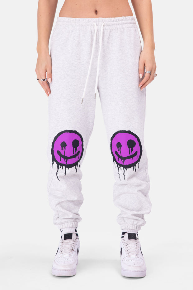 SMILEZ Graffiti Print Sweatpants
