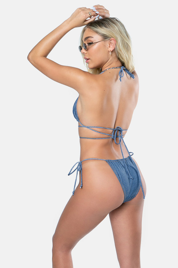 Denim-Dreams Tie Side Bikini Bottom