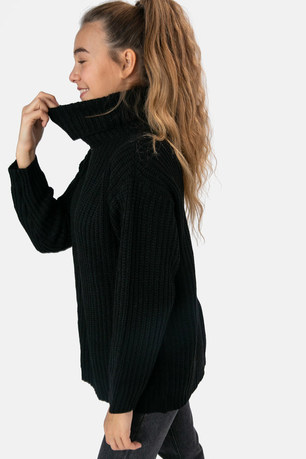 Hazel Oversized Turtleneck Sweater
