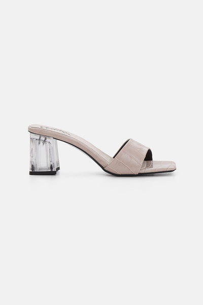 Dash Clear Heel Croc Sandals