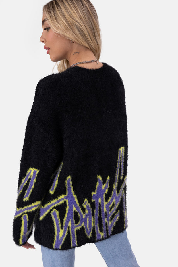 SPOTLESS Oversize Fuzzy Sweater