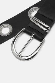 Buckles Faux Leather Belt
