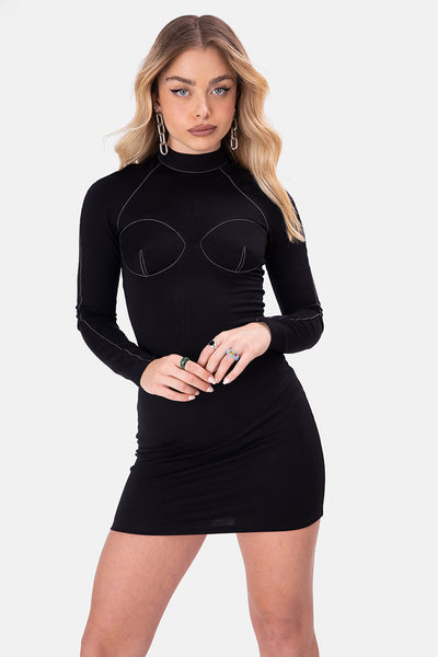 Ridd Stitch Detail Mini Dress