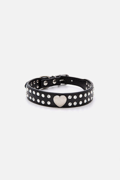 Rock Heart Dog Collar