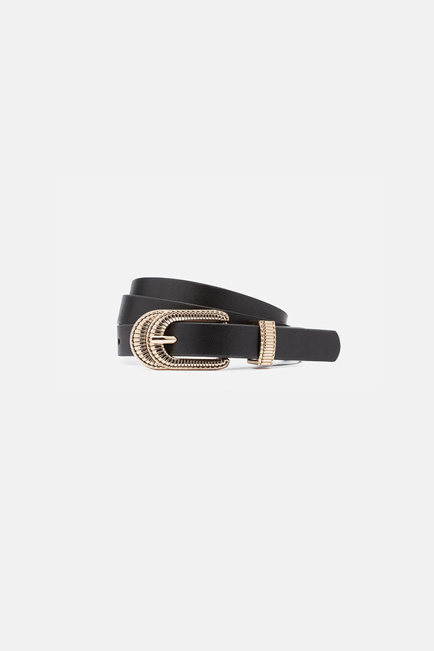 Folk Faux Leather Belt