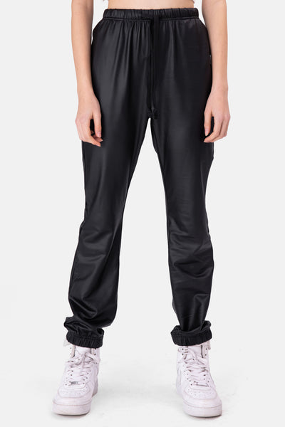 Hailey Faux Leather Sweatpants
