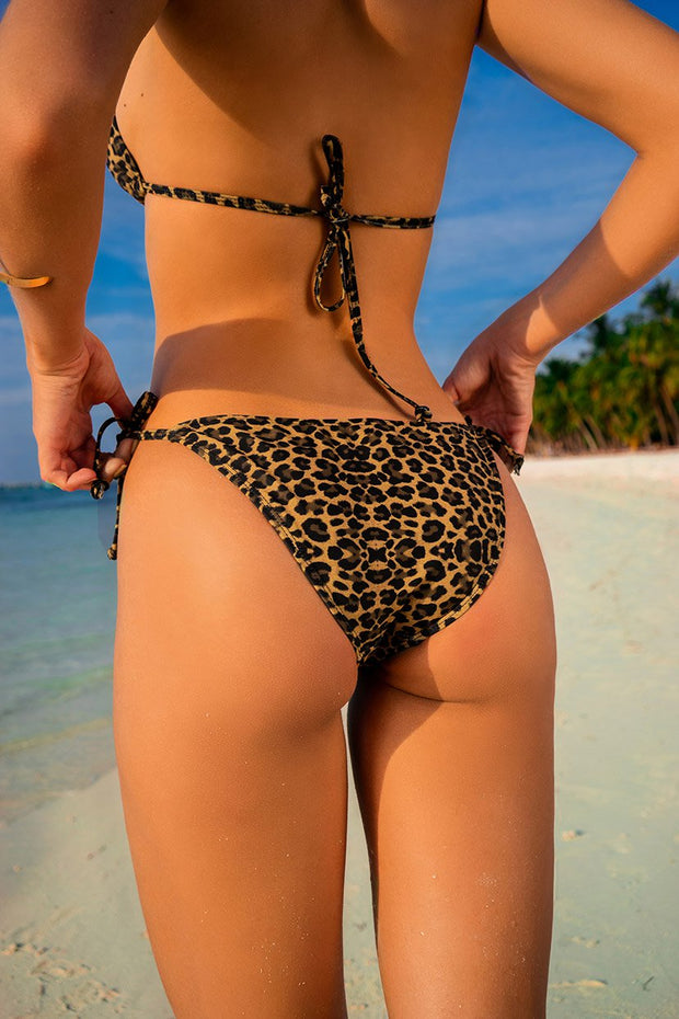 Crazy Tiger Side Tie Bikini Bottom