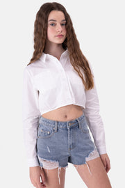 Layla Cropped Button-Down Shirt