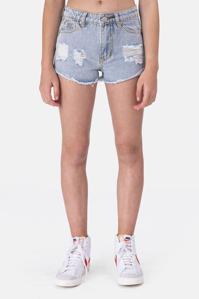 Lucy Ripped Denim Shorts
