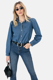 Raston Denim Button-Down Shirt