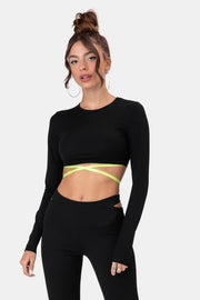 Morello Crisscross-Straps Crop Top