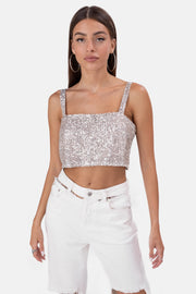 Bailer Sequin Crop Top