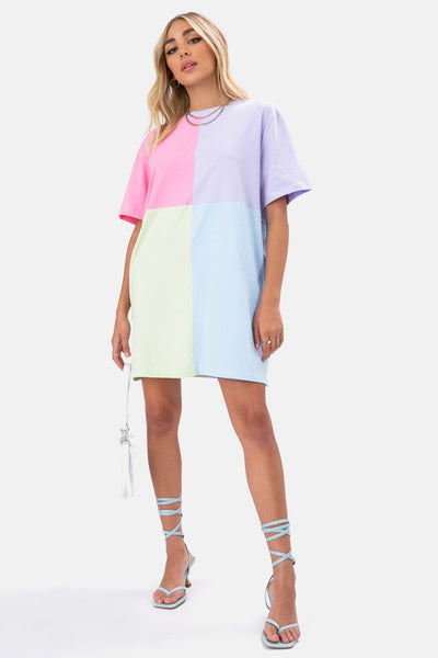 Color Block Tee Dress