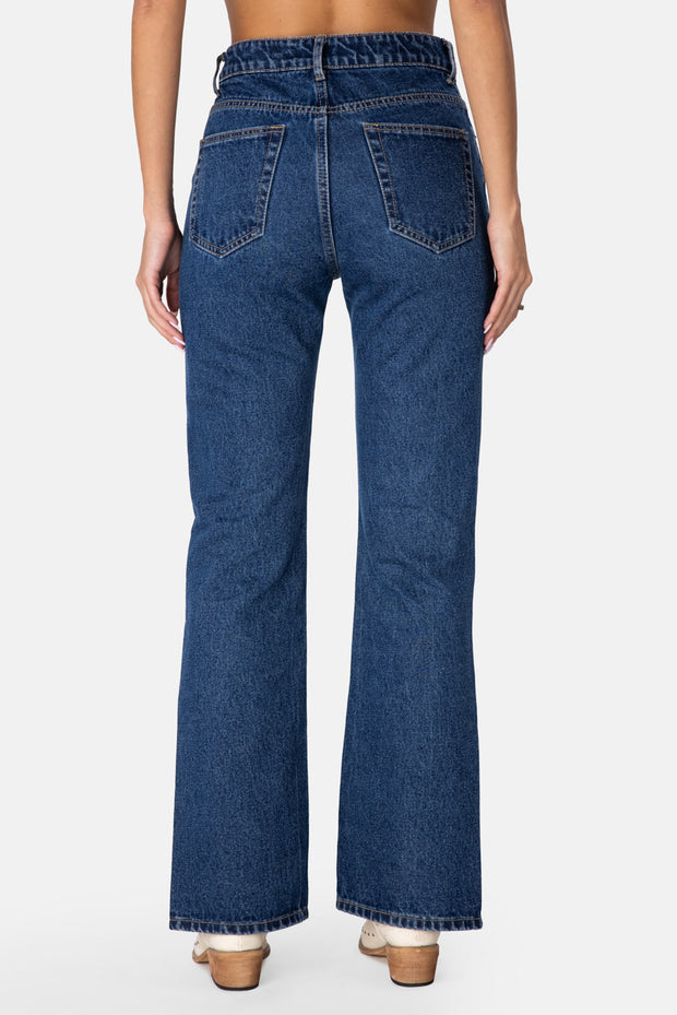 Rocket Side Slits Jeans | Flare