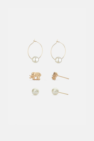 Moulin 3-Pack Mixed Earrings