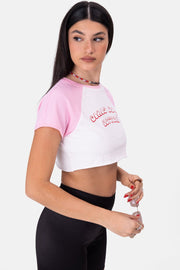 DO IT Embroidery Cropped Tee