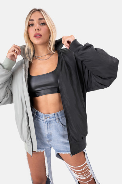 Squad Color Block Bomber Jacket