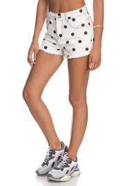All Dots Denim Shorts