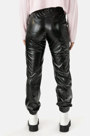 Kearney Faux Leather Cargo Pants
