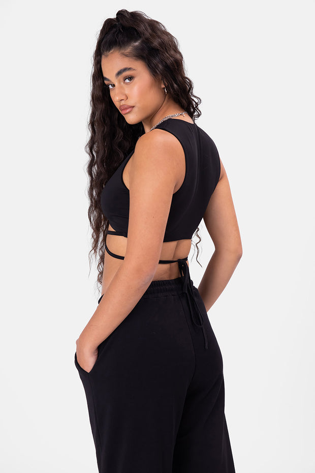 Marquise Wrap Crop Top