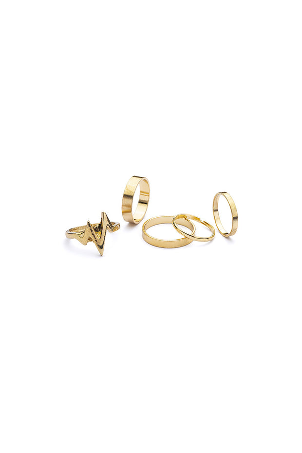 Gold Addiction 5 Pack Rings