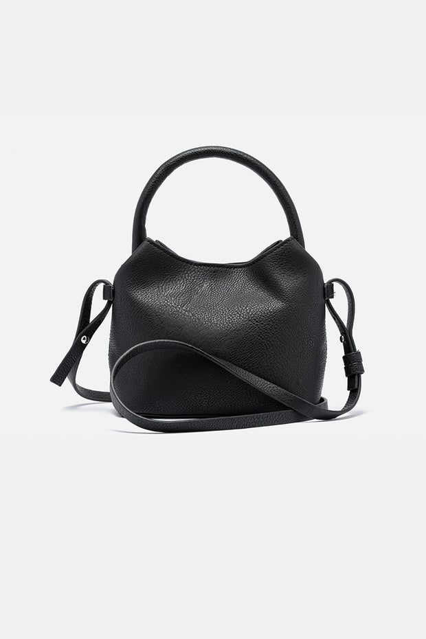 Foxy Faux Leather Bucket Bag