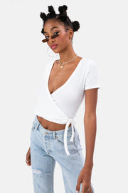 Garland Ribbed Wrap Top