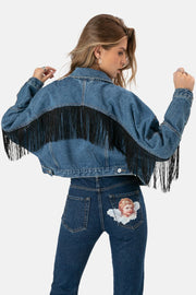 Cleveland Fringe Denim Jacket