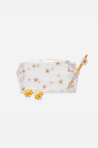 Daisies Clear Pencil Case