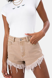 Mocha Denim Shorts