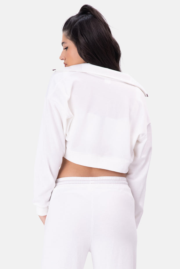 FLOW Zip-Up Cropped Jacket
