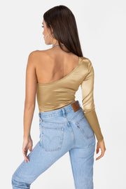 Bronzie One-Shoulder Bodysuit